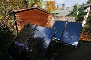 Hochgestellte Solaranlage