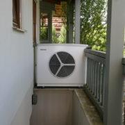 Im Garten integrierte Luft Wärmepumpe