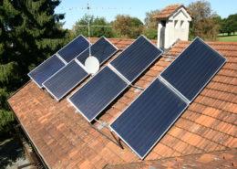Perfekt positionierte Solaranlage