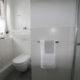 Dusche in Gäste-Toilette integriert