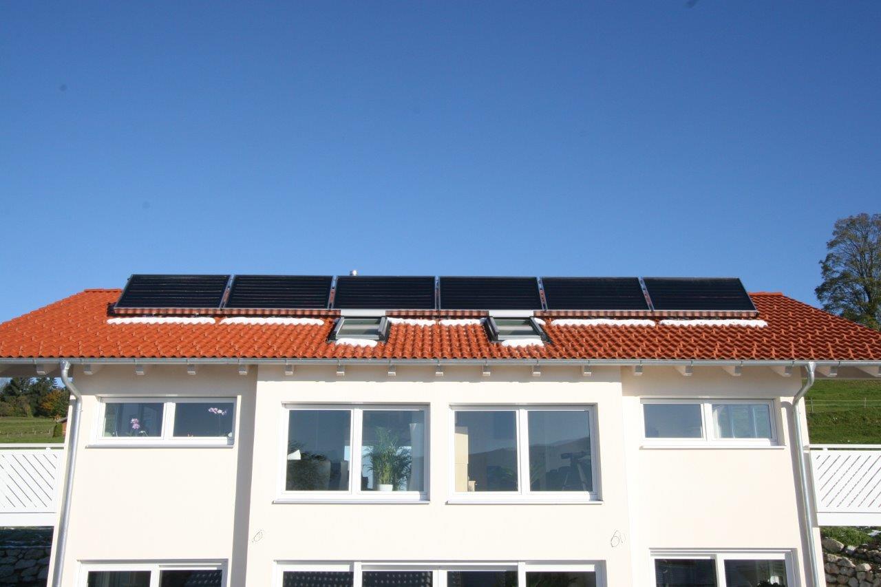 Solarkollektoren in Reihe geschaltet