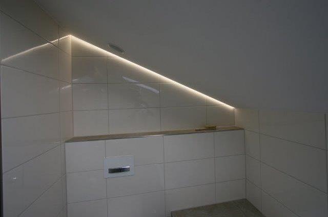 Moderne Badbeleuchtung nach Badumbau