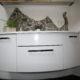 Großzügiger Waschtisch mit viel Platz nach Badsanierung