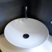 Elegantes Waschbecken nach Badumbau
