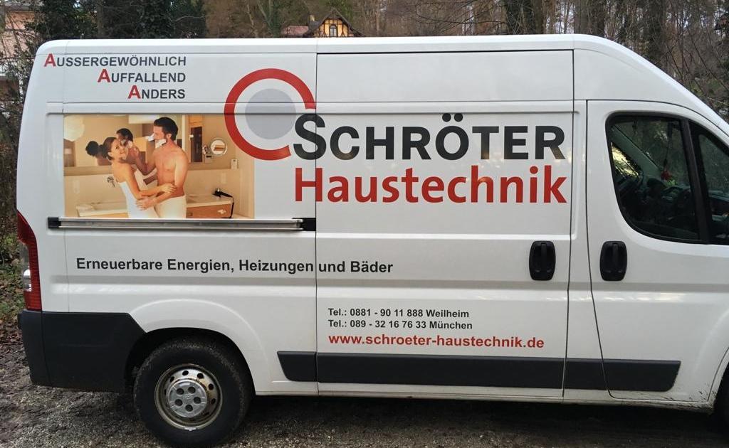 Mit diesem Fahrzeug sind wir für unsere Kunden unterwegs